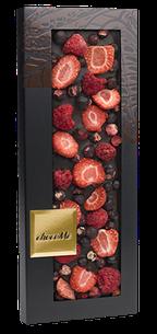 ChocoMe - Tmavá čokoláda 66% malina, jahoda, čierne ríbezle, 110g