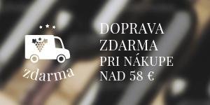 Doprava zdarma - pri nákupe nad 58 EUR
