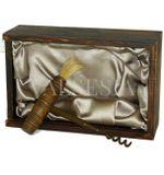Otvárač na víno - antická vývrtka na víno v darčekovej krabičke