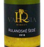 Rulandské šedé 2018, akostné víno, suché, 0,75 l