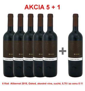 Akcia 5 + 1 REPA WINERY Alibernet 2015, Oaked, akostné víno, suché, 0,75 l