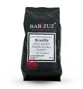 Brazília Yellow Bourbon Fazenda da Lagoa Peaberry, zrnková káva, 100 % arabica, 250 g