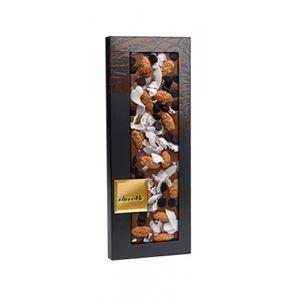 ChocoMe - Mliečna čokoláda 40%, mandle v škoricovom cukre, kokosové lupienky, kvapky z horkej čokolády, 100g