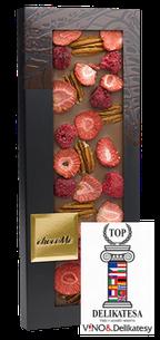 ChocoMe - Mliečna čokoláda 40% pekanové orechy, malina, jahoda, 100g