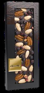 ChocoMe - Tmavá čokoláda 66% pekanové orechy, mandle, čierna ríbezľa, 100g