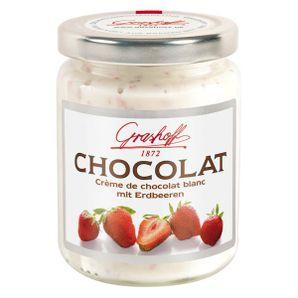 Čokoládový krém biely s jahodami, 250 g, zn. GRASHOFF