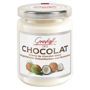 Čokoládový krém biely s kokosom a rumovou arómou, 250 g, zn. GRASHOFF