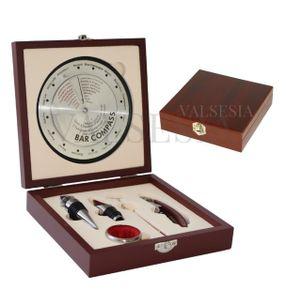 Darčeková krabička BAR KOMPAS s vinárskou súpravou 5 pomôcok
