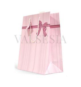 Darčeková papierová taška malá - ružová