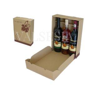 Darčekový kartónový obal na víno 3 x 0,75 l s logom Mrva & Stanko