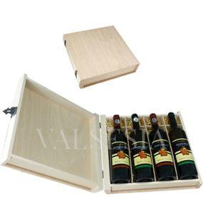 Darčekový obal - drevená kniha 4 x 0.75 l