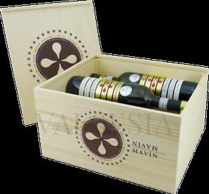 Drevená darčeková debna na víno Pomfy - Mavín 6 x 0.75 l
