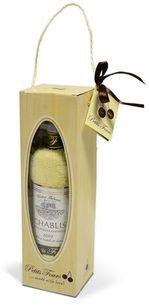 Francúzske víno Chablis - uterákový darčekový set
