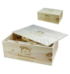 Darčekový obal - drevená debna Mrva & Stanko Exclusive 12 x 0.75l