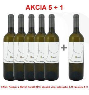 Akcia 5 + 1 REPA WINERY Pozdrav z Malých Karpát 2015, akostné víno, polosuché, 0,75 l