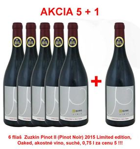 Akcia 5 + 1 REPA WINERY Zuzkin Pinot II (Pinot Noir) 2015 Limited edition, Oaked, akostné víno, suché, 0,75 l