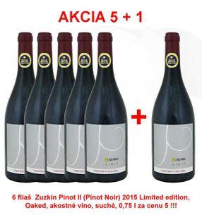Akcia 5 + 1 REPA WINERY Zuzkin Pinot II (Pinot Noir) 2015 Limited edition, Oaked, akostné víno, suché, 0,75 l