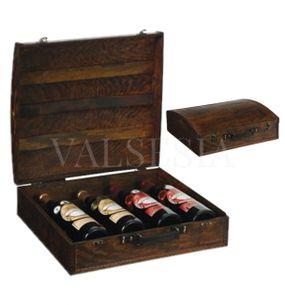 Rustikálny darčekový box na 4 vína F13
