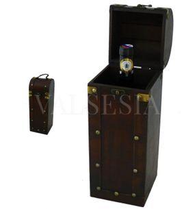 Rustikálny darčekový box na víno F05