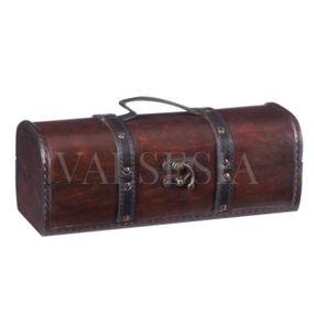 Rustikálny darčekový box na víno F06