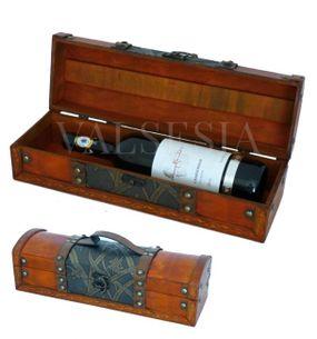 Rustikálny darčekový box na víno F09