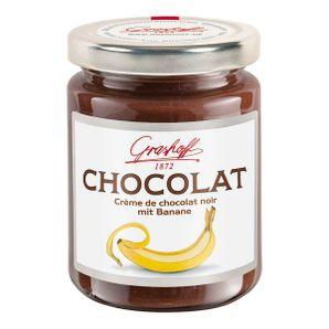 Tmavý čokoládový krém s banánom, 250 g, zn. GRASHOFF