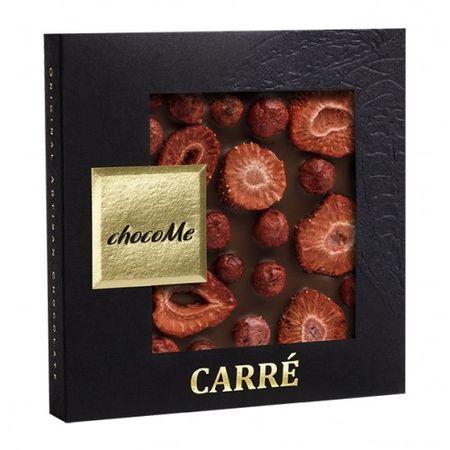 ChocoMe - Mliečna čokoláda, jahoda, ríbezľa, 50g