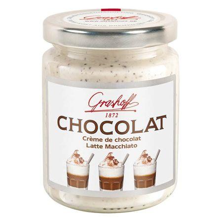 Čokoládový krém biely Latte Macchiato, 250 g, zn. GRASHOFF