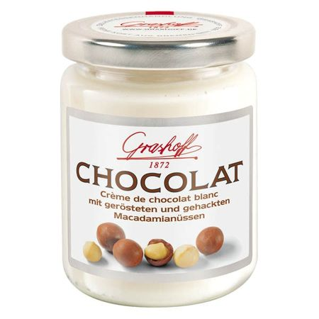 Čokoládový krém biely s makadamiovými orieškami, 250 g, zn. GRASHOFF