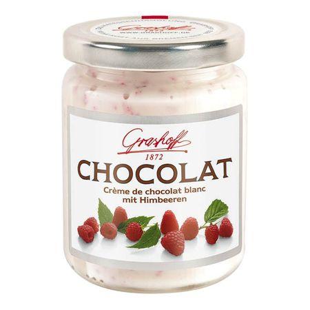 Čokoládový krém biely s malinami, 250 g, zn. GRASHOFF