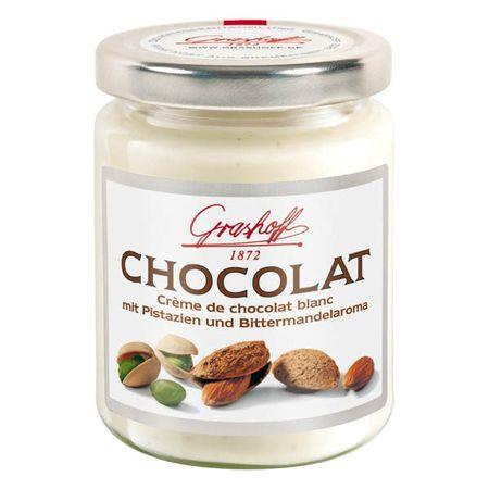 Čokoládový krém biely s pistáciami a mandľovou arómou, 250 g, zn. GRASHOFF