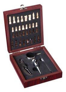 Darčeková krabička ŠACHY + 5 vinárskych pomôcok
