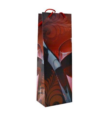 Darčeková papierová taška na 1 fľašu