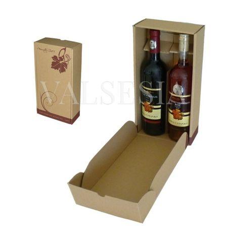 Darčekový kartónový obal na víno 2 x 0,75 l s logom Mrva & Stanko