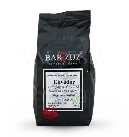 Ekvádor Galapagos Gr. 17/18, Hacienda El Cafetal, Organic certified, zrnková káva, 100 % arabica, 250 g