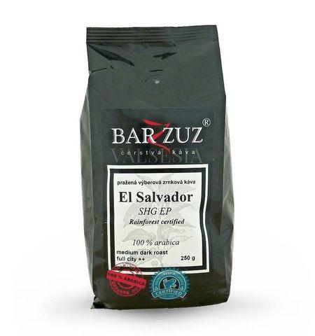 El Salvador SHG EP, Rainforest certified, zrnková káva, 100 % arabica, 250 g