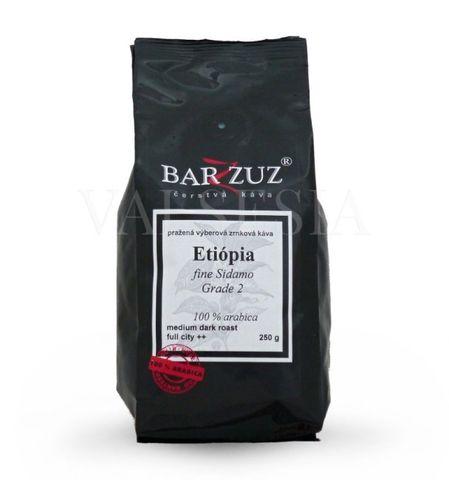 Etiópia fine Sidamo Grade 2, zrnková káva, 100 % arabica, 250 g