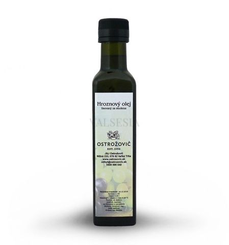 Hroznový olej 0,25 l lisovaný za studena