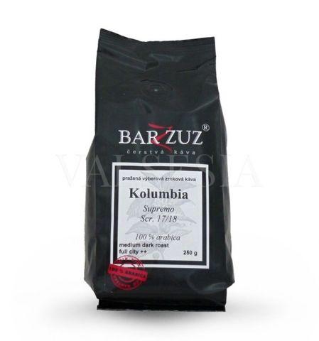 Kolumbia Supremo 17/18 Medellin, zrnková káva, 100 % arabica, 250 g