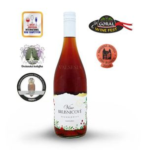 Brusnicové víno - limitovaná edícia, značkové ovocné víno, sladké, 0,75 l