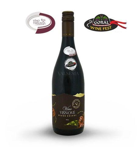 Višňové víno, značkové ovocné víno, sladké, 0,75 l