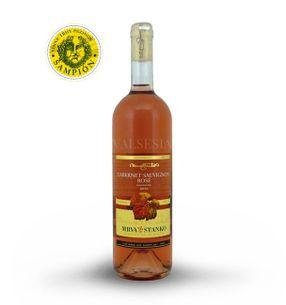 Cabernet Sauvignon rosé - Mojmírovce 2016, akostné víno, polosuché, 0,75 l