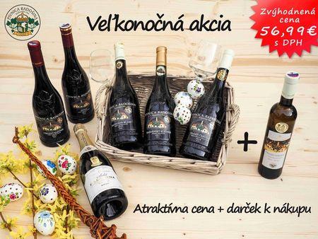 Veľkonočný akciový balík vín RADOŠINA 6 + 1 darček k nákupu