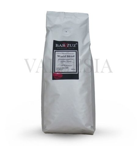World blend, premium gourmet coffee blend, zrnková káva, 100 % arabica, 1 kg